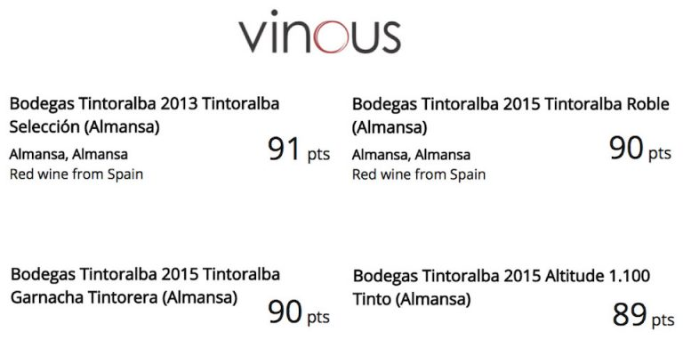 Vinous, good Critics and Ratings!