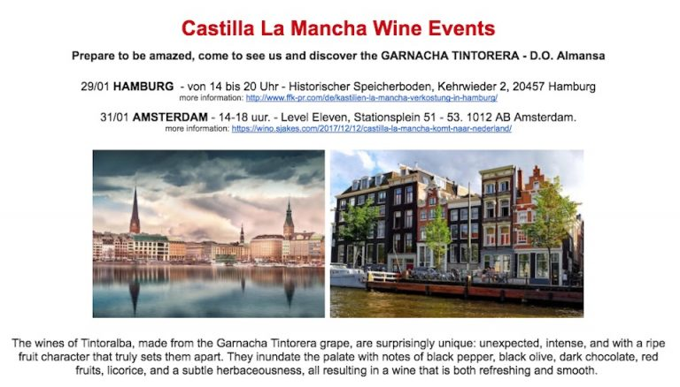 Route through Europe with our Garnacha Tintorera. Hamburg and Amsterdam are waiting for us.