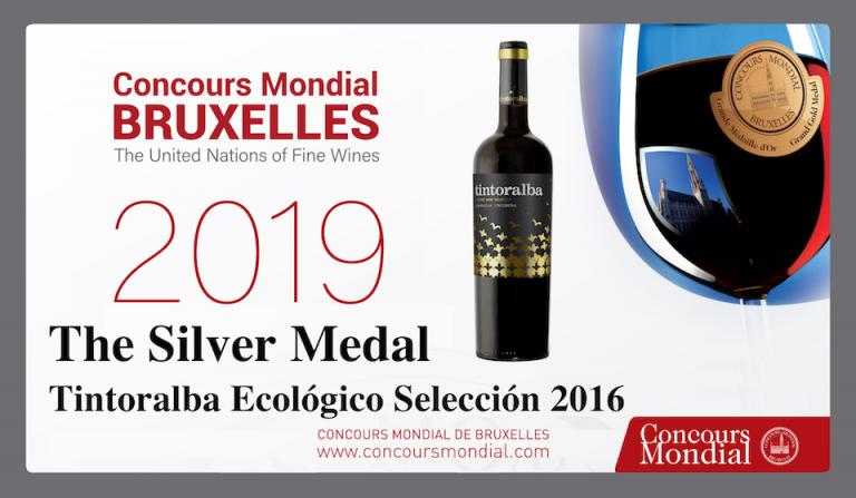 Plata para nuestro Tintoralba Ecológico Selección 2016