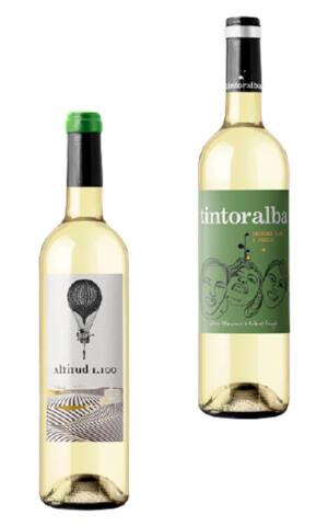 Pack dos botellas vino blanco Altitud 1.100 y Tintoralba