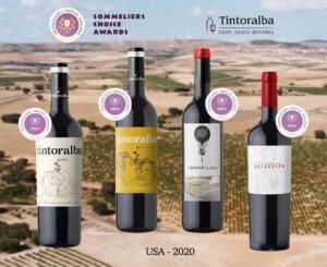 Los vinos de Tintoralba reciben cuatro medallas en los premios Sommelier Choice Awards de EEUU