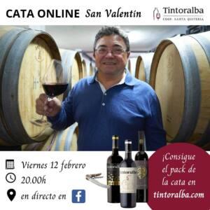 ¡Apúntate a la cata online de San Valentín de Tintoralba!